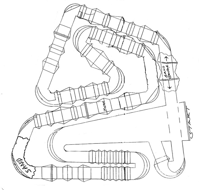 Anaheim 2   - Supercross - ama - 2012 - Track map