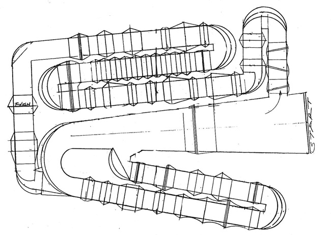 Toronto  - Supercross - ama - 2012 - Track map
