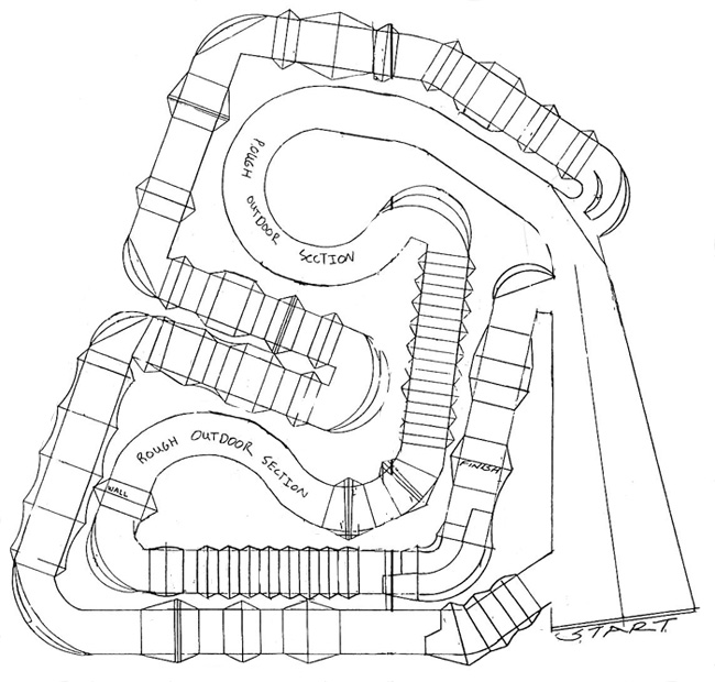 Anaheim I - Supercross - ama - 2012 - Track map