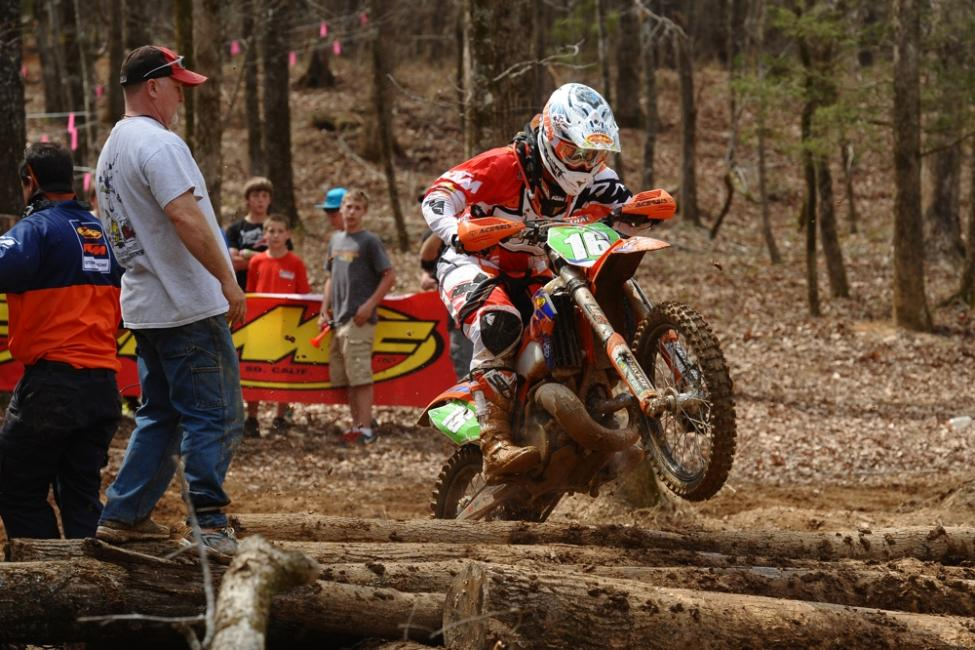 Grant Baylor finished with an impressive second place finish in XC2 Photo: Ken Hill / GNCC