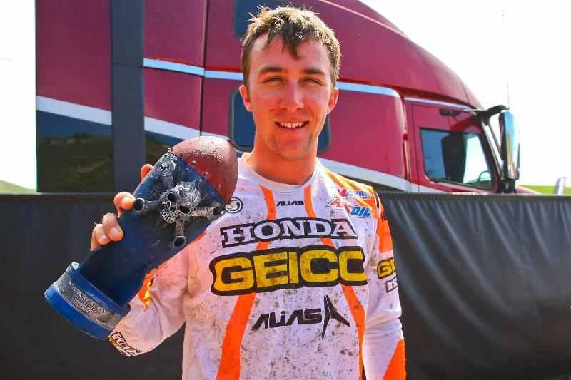 Eli Tomac claimed his second 250 Class Oakley Bomb Award of the Season at Thunder Valley. Photo Courtesy MX Sports Pro Racing