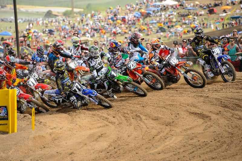 Justin Barcia claimed both Motorcycle Superstore Holeshots at Thunder Valley Photo Courtesy MX Sports Pro Racing