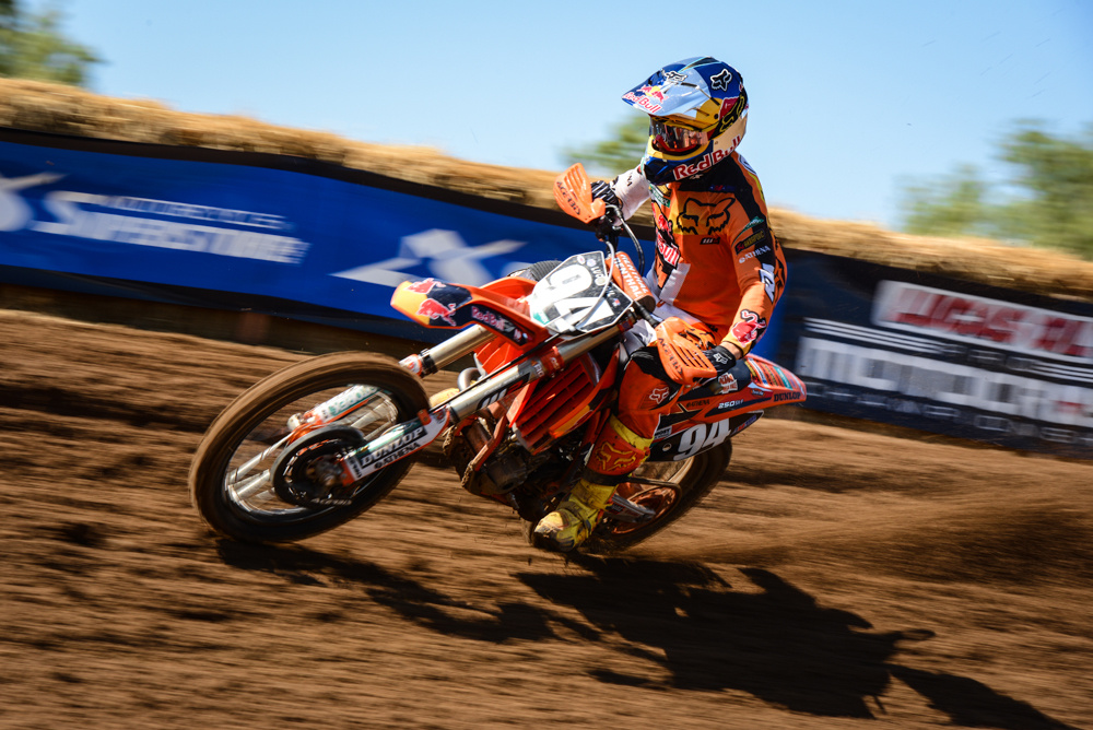 Ken Roczen was the fastest 250 at round number 1. Photo: Todd Gutierrez