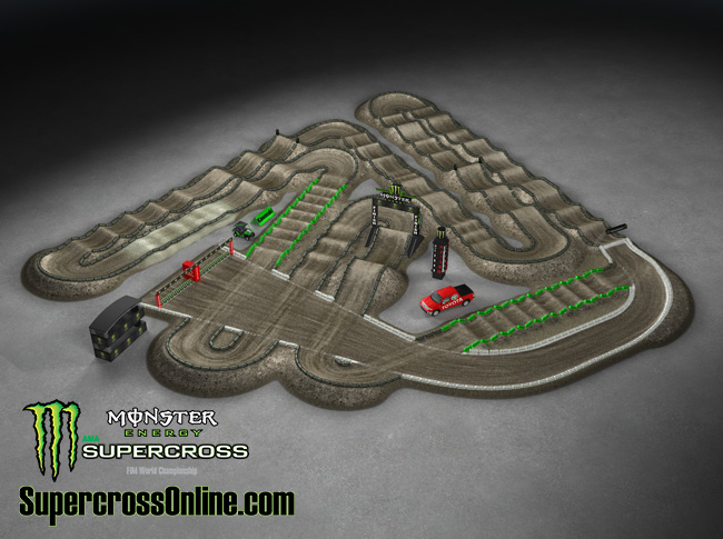 Anaheim 1 SX  Supercross 2014 Track