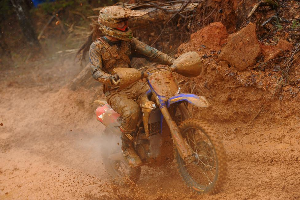 Jordan Ashburn rode tough all afternoon to secure third place overall Photo: Ken Hill