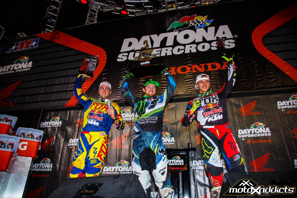 450SX overall podium. Photo by: Hoppenworld