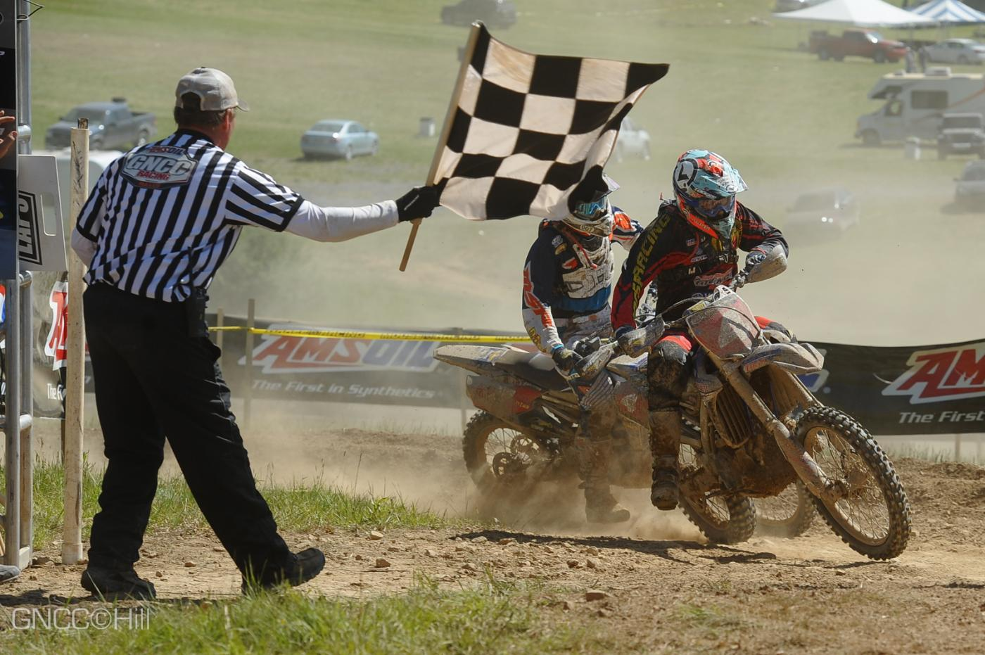 Strang (#4) edged out his teammate Ashburn in the final moments of the race Photo: Hill