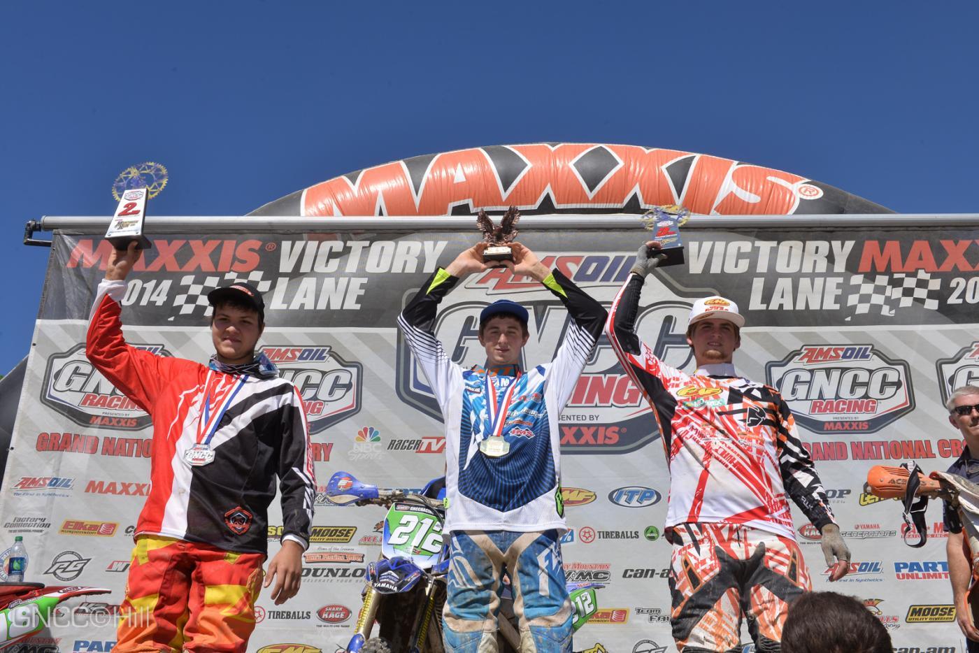 XC2 Podium: (left) Trevor Bollinger, Ricky Russell, (right) Grant Baylor Photo: Hill
