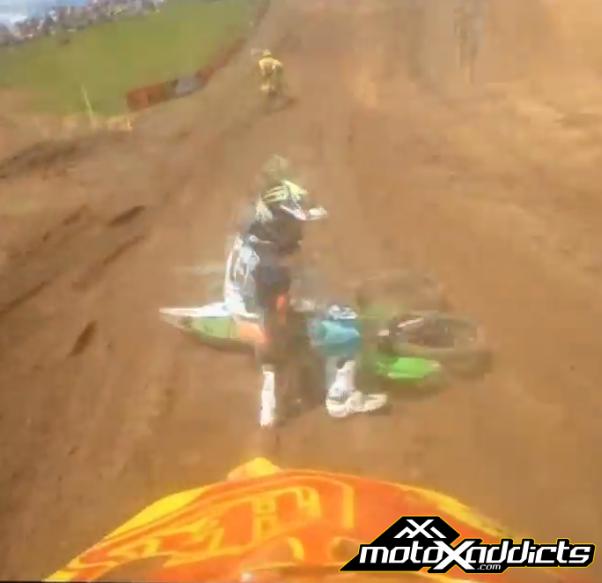 Malcolm Stewart & Jake Weimer Crash on Helmet Cam