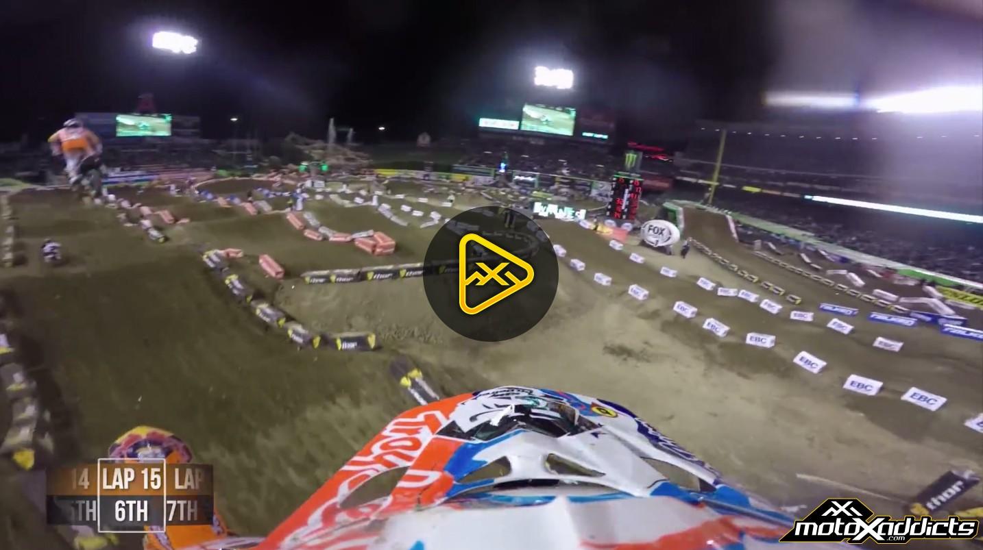 Helmet Cam: Jessy Nelson's Anaheim 2 SX Main Event
