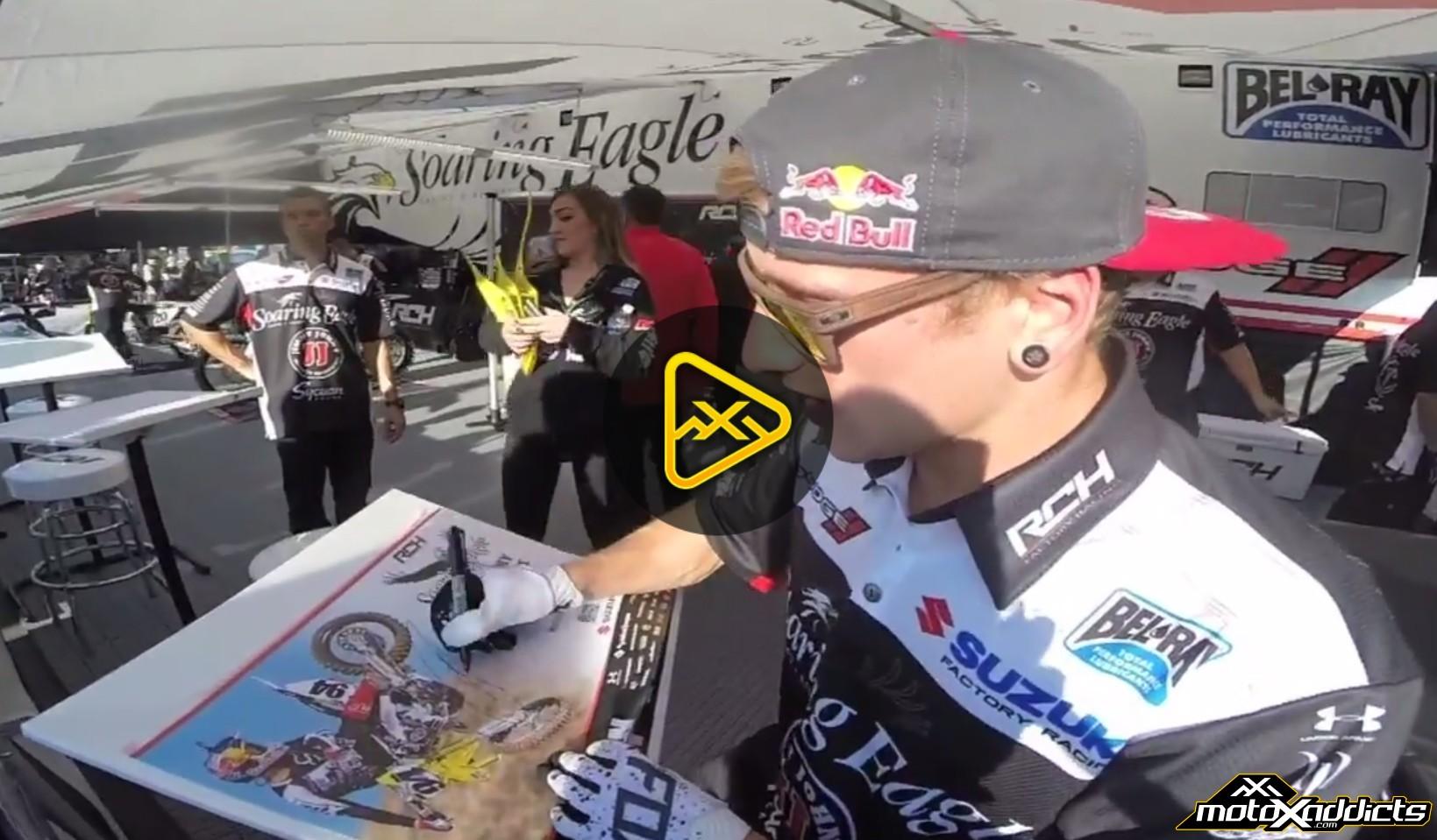 Helmet Cam – Ken Roczen's Main Event at Anaheim 2 SX