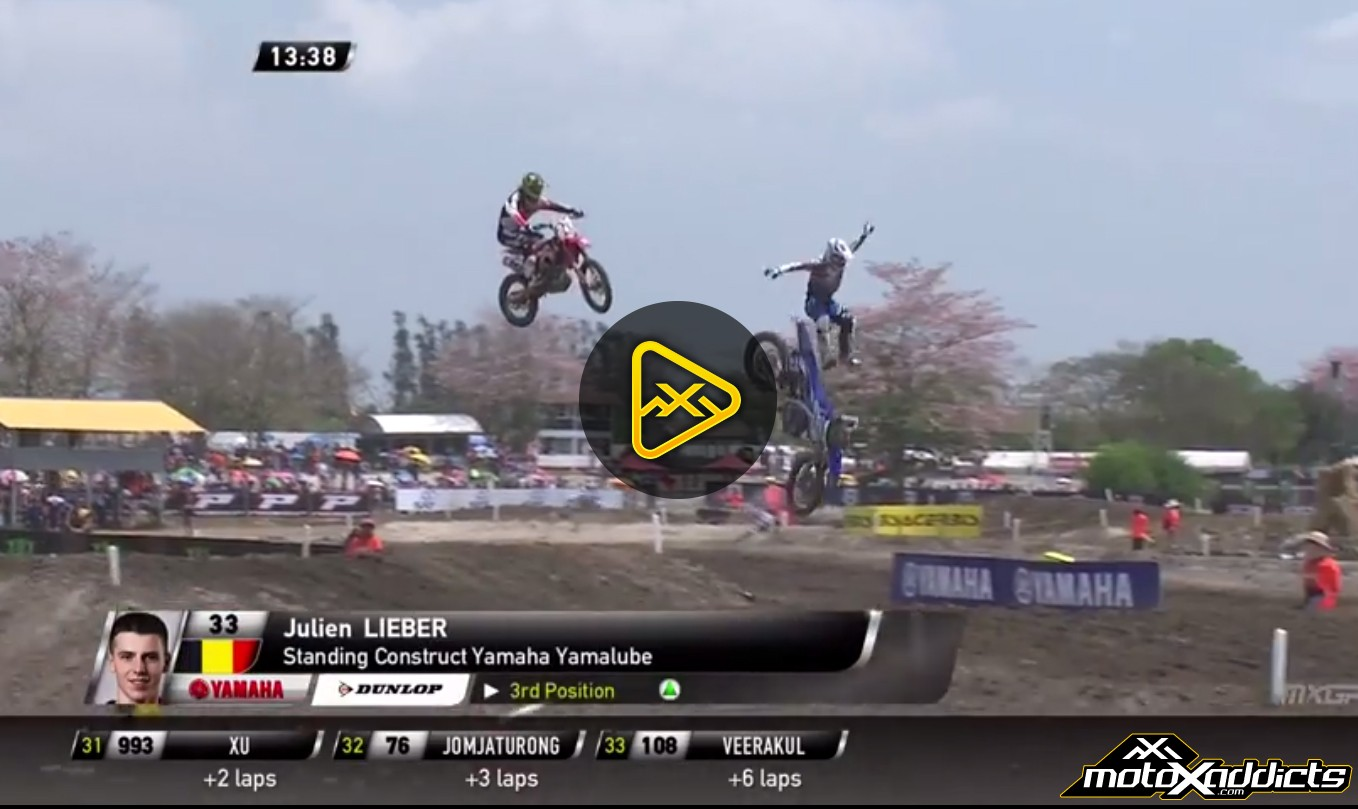 Julien Lieber Eject Crash off Triple – 2015 MXGP of Thailand