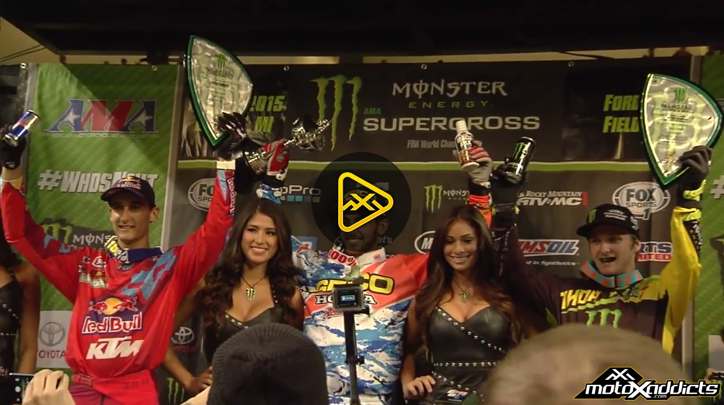 250SX Podium Interviews – 2015 Detroit Supercross