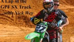 Nick Wey does a lap of the supercross practice track