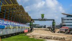 View the recently constructed circuit and downtown Assen party