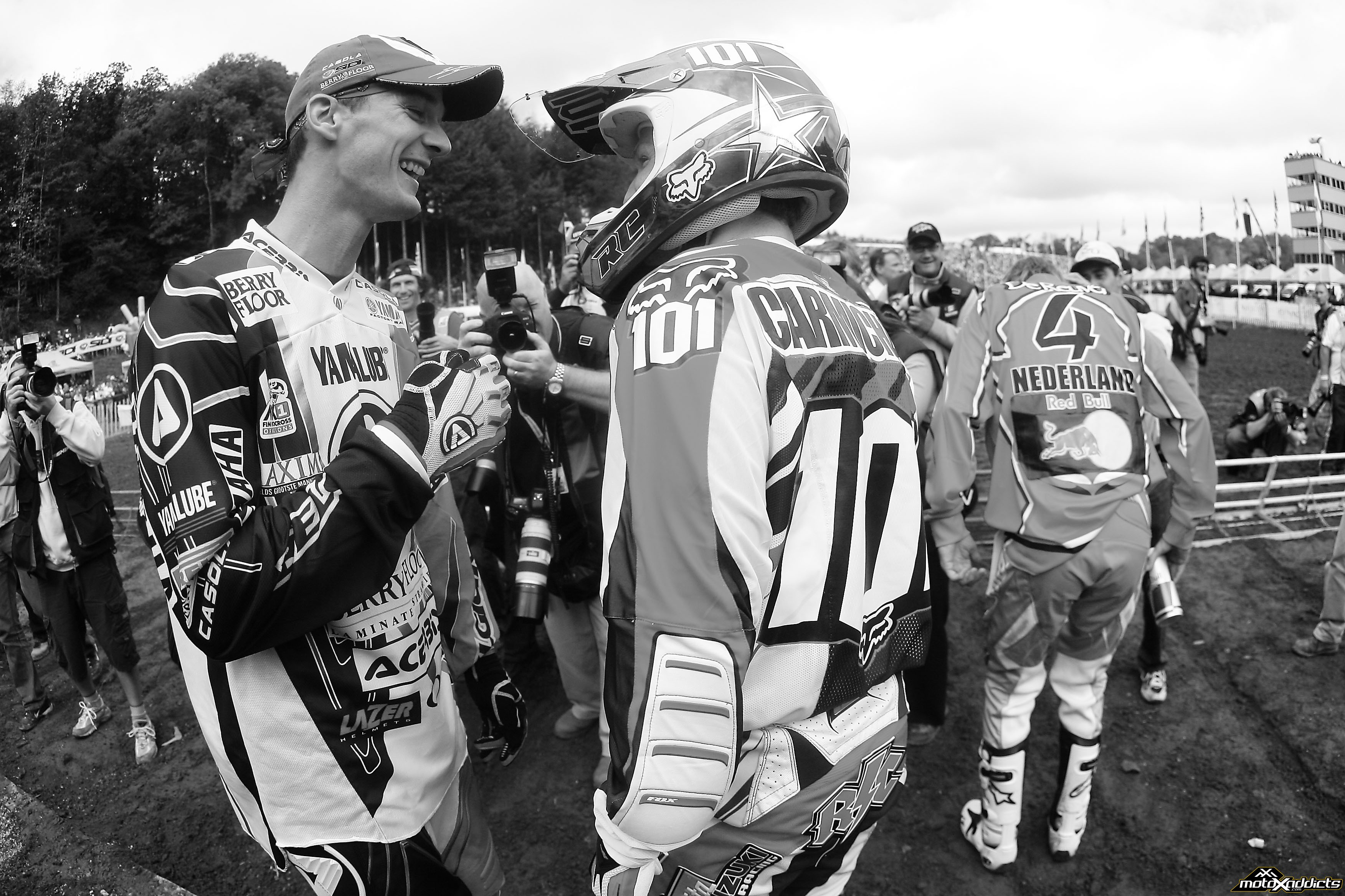 Stefan Everts (left) and Ricky Carmichael (right) are both considered the greatest of all time in their respective series'.