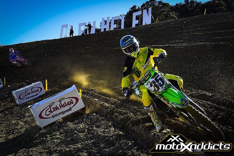 Josh Grant showed incredible fitness at Glen Helen in moto 2. Photo by: MXGP.com
