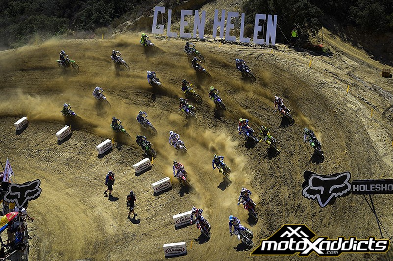 The TLD/KTM's were up front in both MX2 starts today. Photo by: MXGP.com