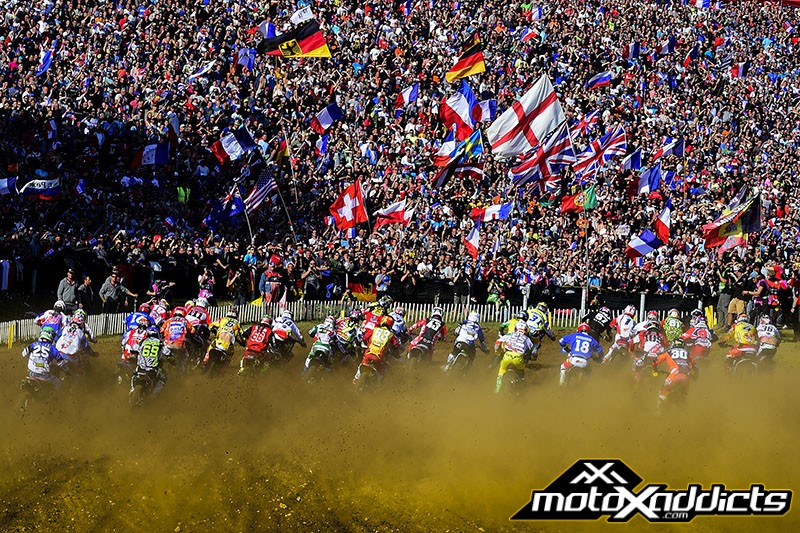 Heading into moto three, Team USA lead Team France by just two points.  Everyone knew the start would be of great importance and it was the French getting out to the front early.
