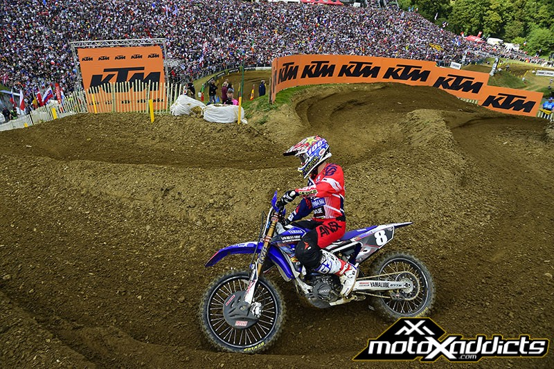 Jeremy Martin finished a solid 2nd, but could not stay with Marvin in the MX2 qualifying race. Photo by: MXGP.com