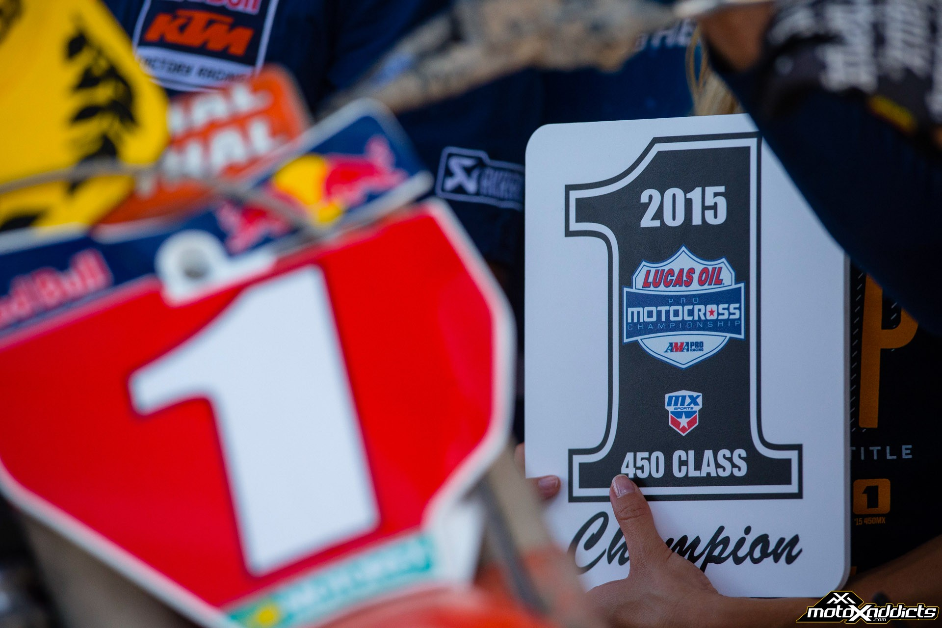 Ryan Dungey will have the #1 in both 450SX and 450MX in '16. Photo by: Hoppenworld