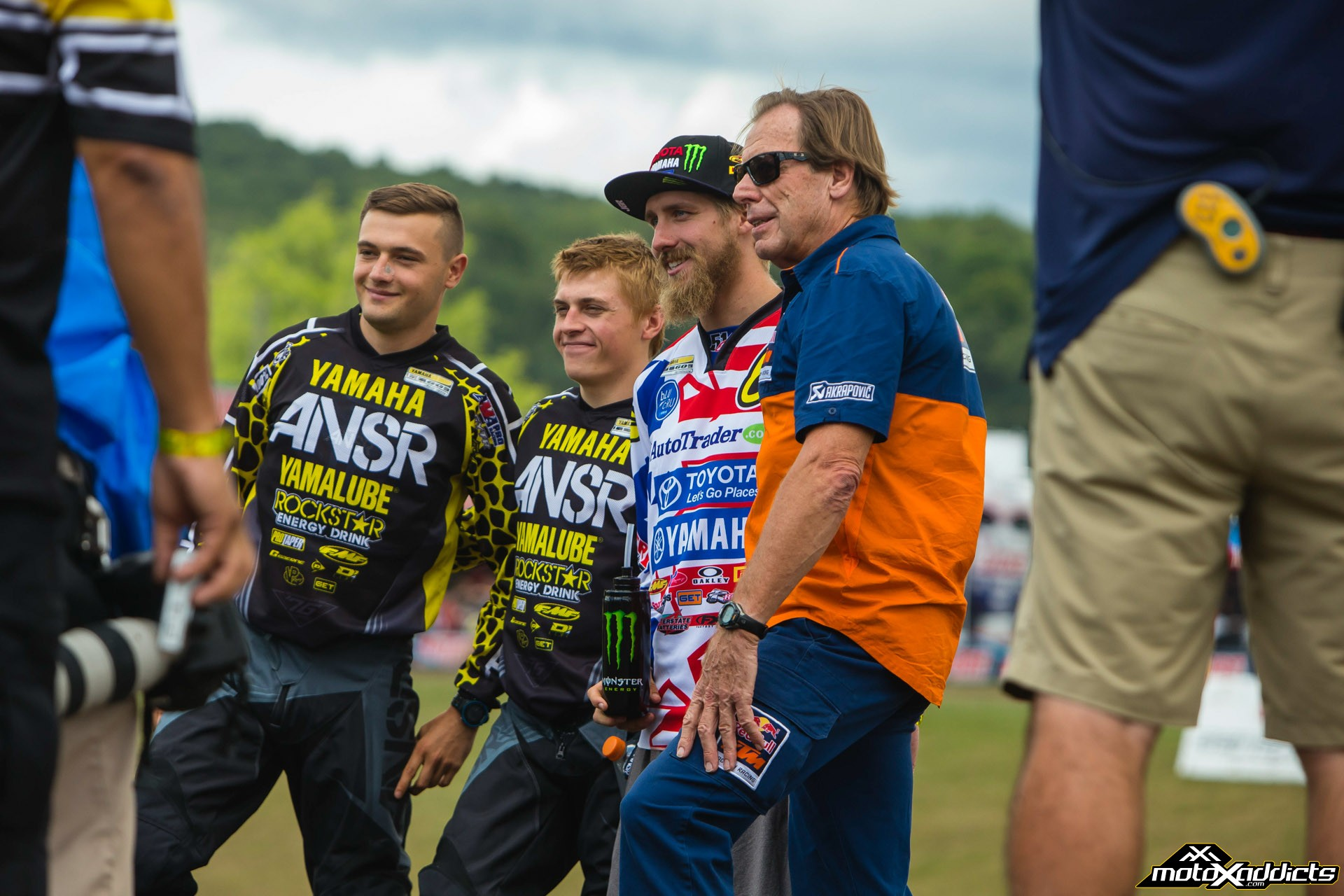 Team USA will be looking for their first win since 2011. From left to right - Cooper Webb (Open) , Jeremy Martin (MX2), Justin Barcia (MXGP), Roger DeCoster (Team Manager) - Photo by: Hoppenworld