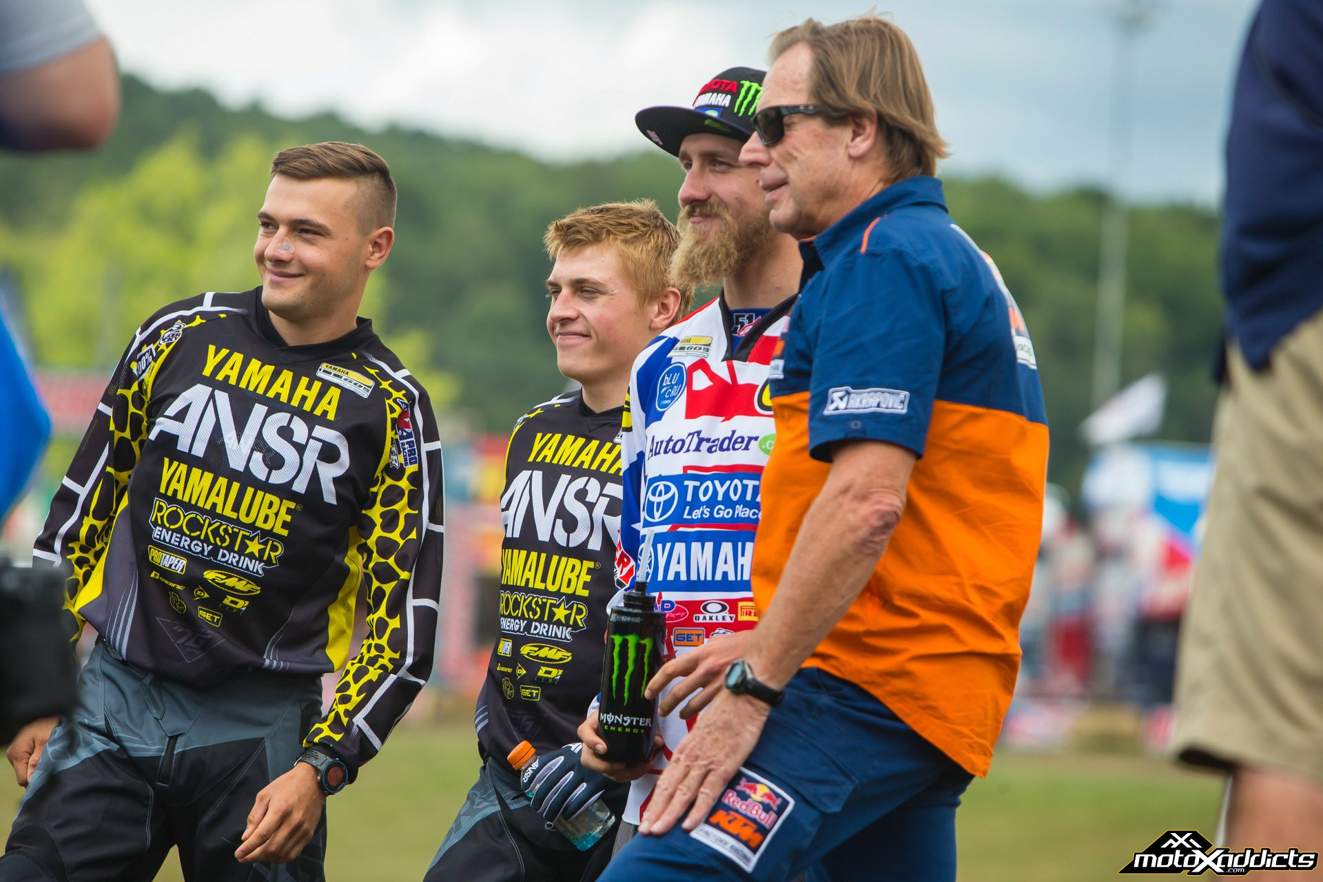 Cooper (far left) will now head to France with Jeremy Martin, Justin Barcia and Roger DeCoster to contest the 2015 MXoN next weekend. Go USA! Photo by: Hoppenworld