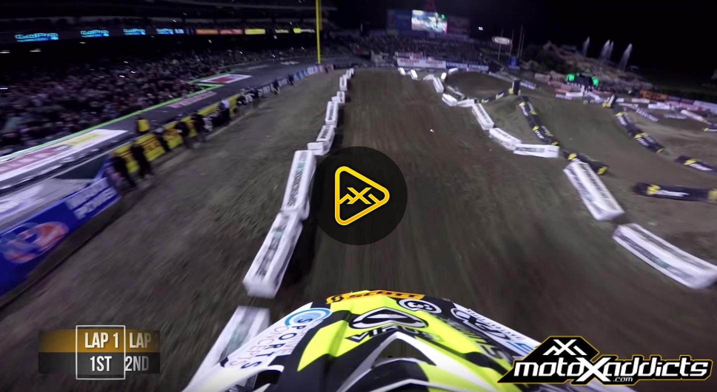 Helmet Cam: Davi Millsaps Main Event at 2016 Anaheim SX 2