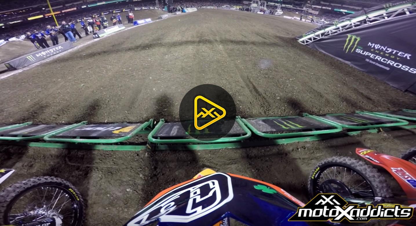 Helmet Cam: Jessy Nelson's Podium at 2016 Anaheim 1 SX