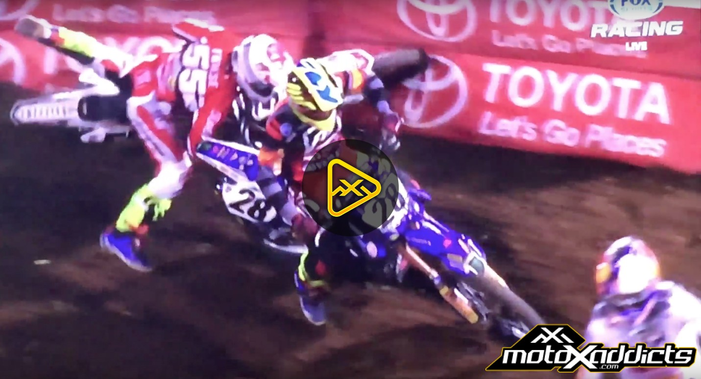 Weston Peick Puts Vince Friese on the Ground – 2016 Oakland SX
