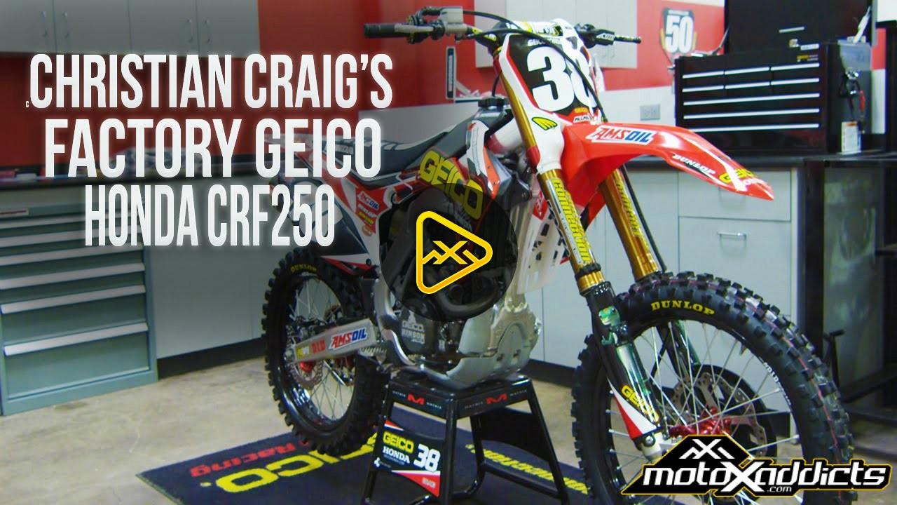 Inside Christian Craig's Factory Geico Honda CRF250