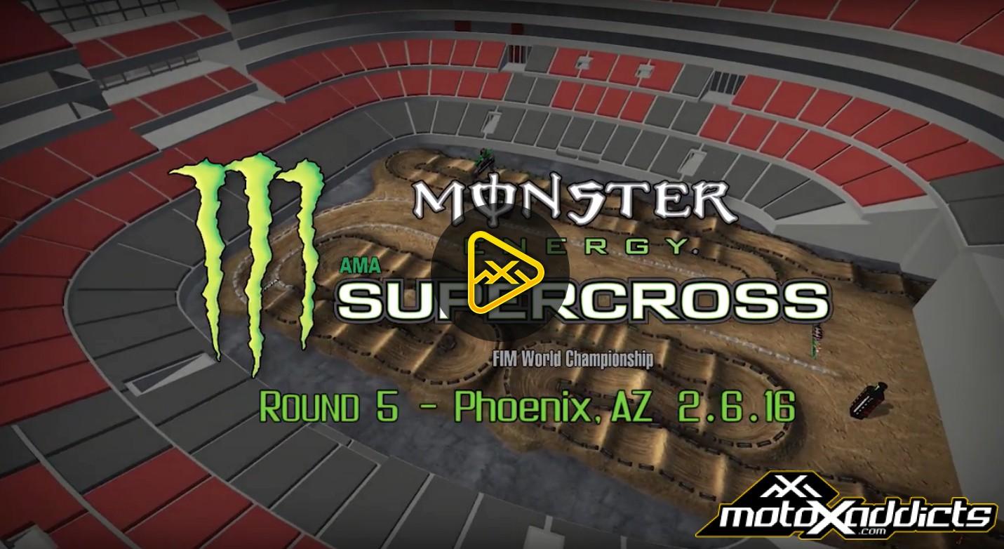 2016 Glendale (Phoenix) Supercross Animated Track Map