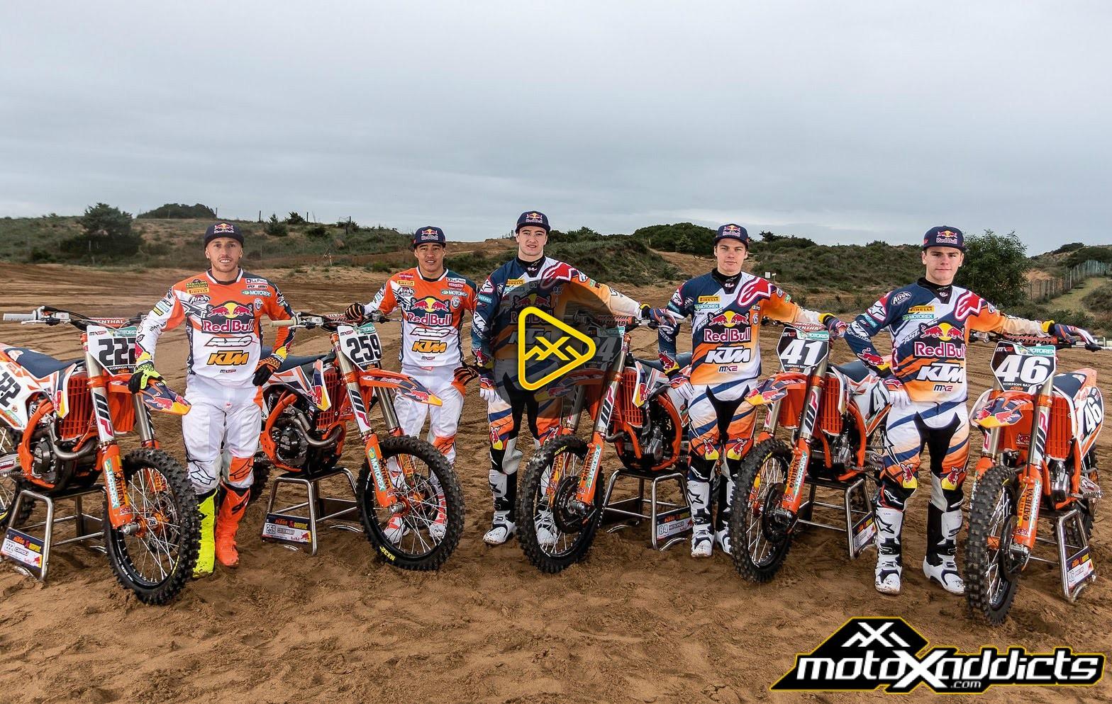 2016 Red Bull/KTM MXGP and MX2 Team Photoshoot