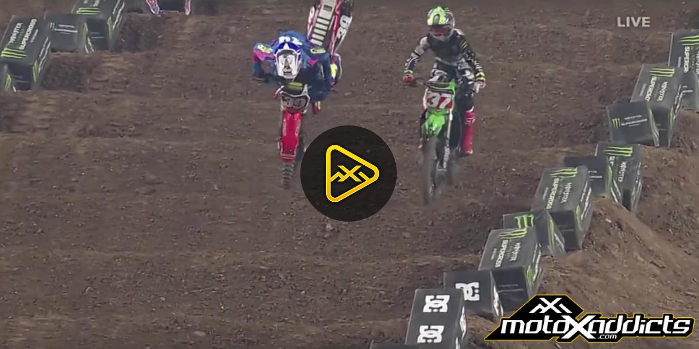 Jordan Smith Crash – 2016 Glendale (Phoenix) Supercross
