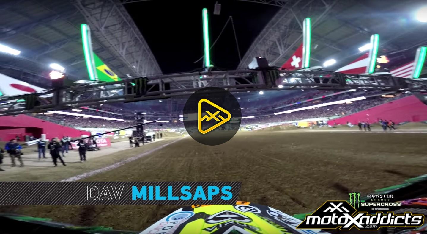 Helmet Cam: Davi Millsaps Main Event at 2016 (Phoenix) Glendale SX