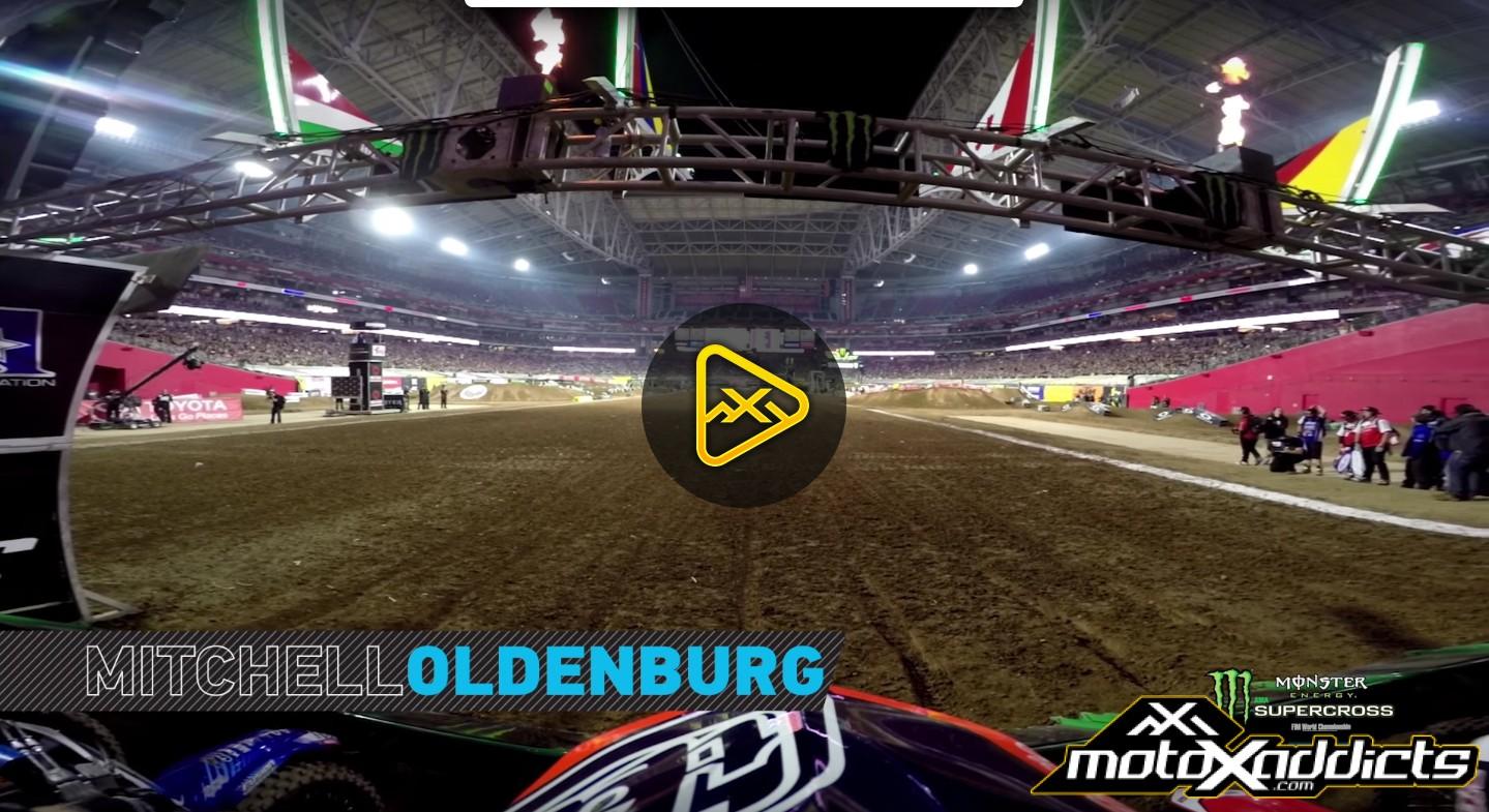 Helmet Cam: Mitchell Oldenburg Main Event at 2016 (Phoenix) Glendale SX