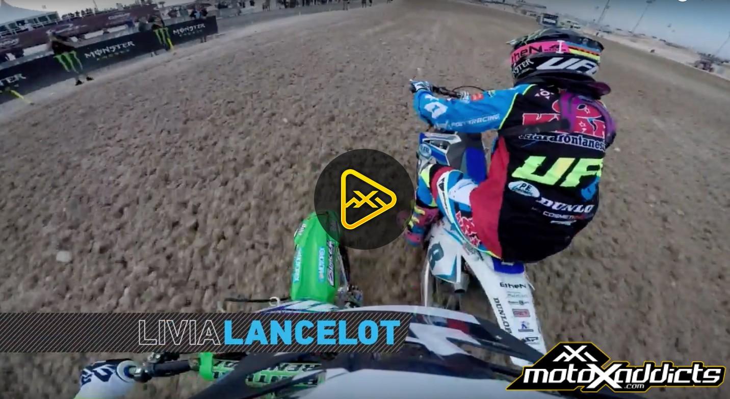Helmet Cam: Livia Lancelot at WMX 2016 MXGP of Qatar