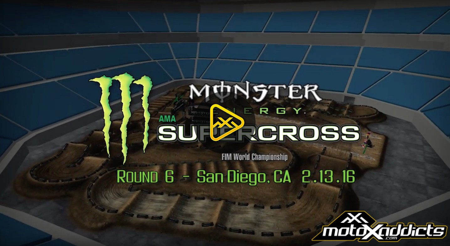 2016 San Diego 2 Supercross – Animated Track Map