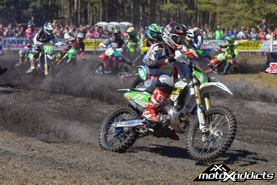 Craig Delong got the $100 XC2 Pro Lites Hot Cams Holeshot Award. Photo: Ken Hill