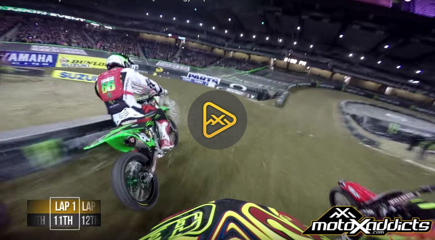Helmet Cam: Alex Frye in 2016 Detroit SX Main Event