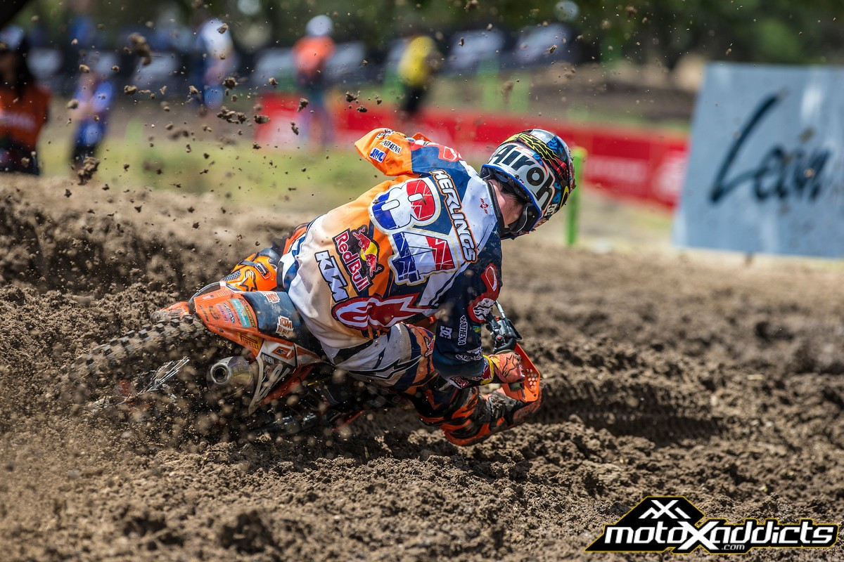Jeffrey Herlings has won all 10 MX2 motos and all five MX2 qualifying races in 2016. Photo by: JP Acevedo