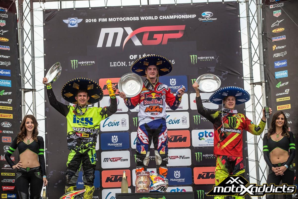 MX2 podium in Mexico. Photo by: JP Acevedo