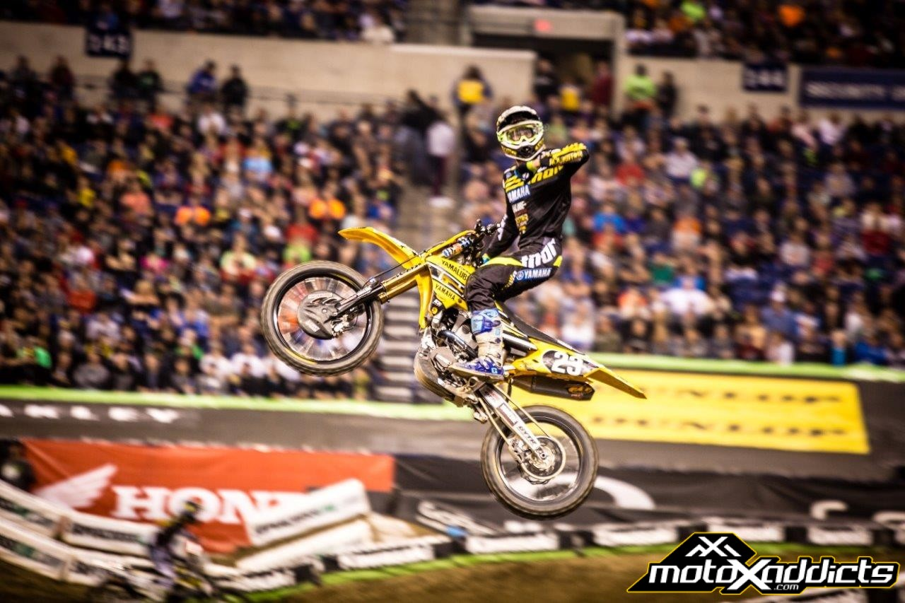 Aaron Plessinger put on a clinic on riding ruts in Supercross. Photo by: Justin Westhead
