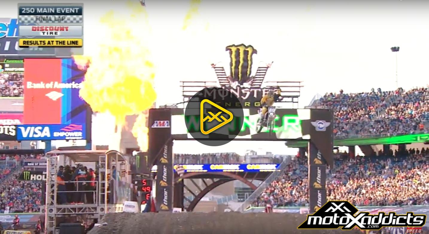 250SX Main Event Highlights – 2016 Foxborough Supercross
