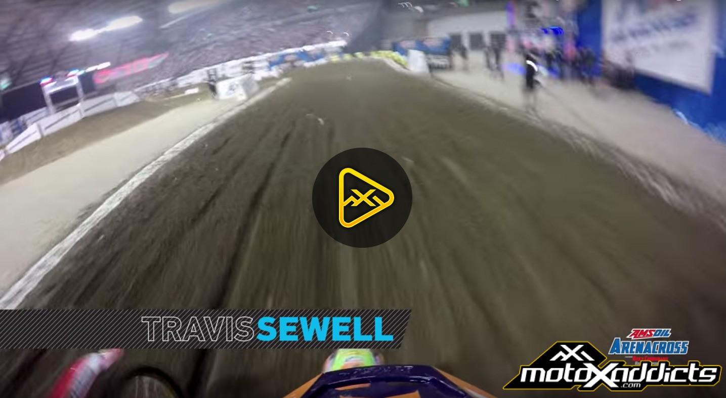 Helmet Cam: Travis Sewell Head to Head at Tacoma Arenacross