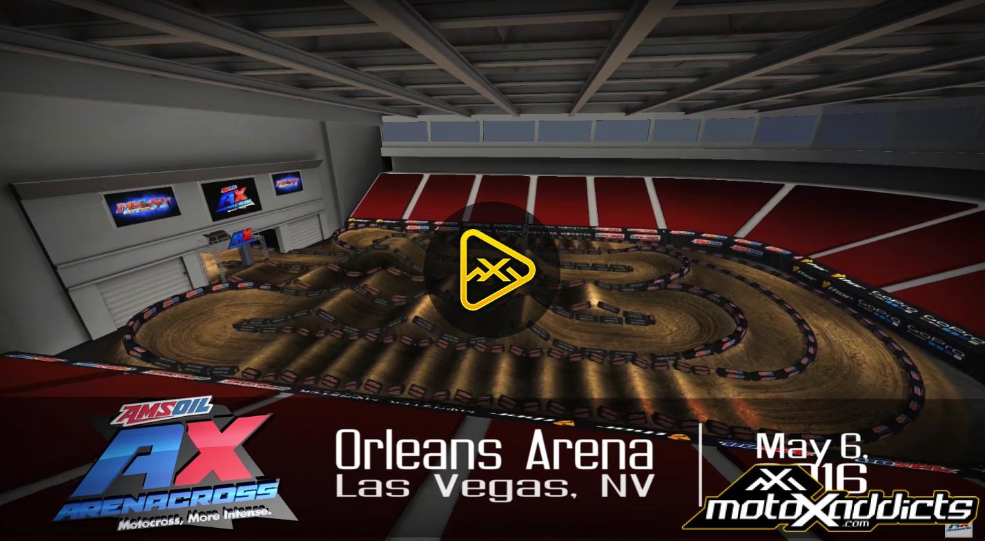 2016 Las Vegas Arenacross Finale Animated Track Map