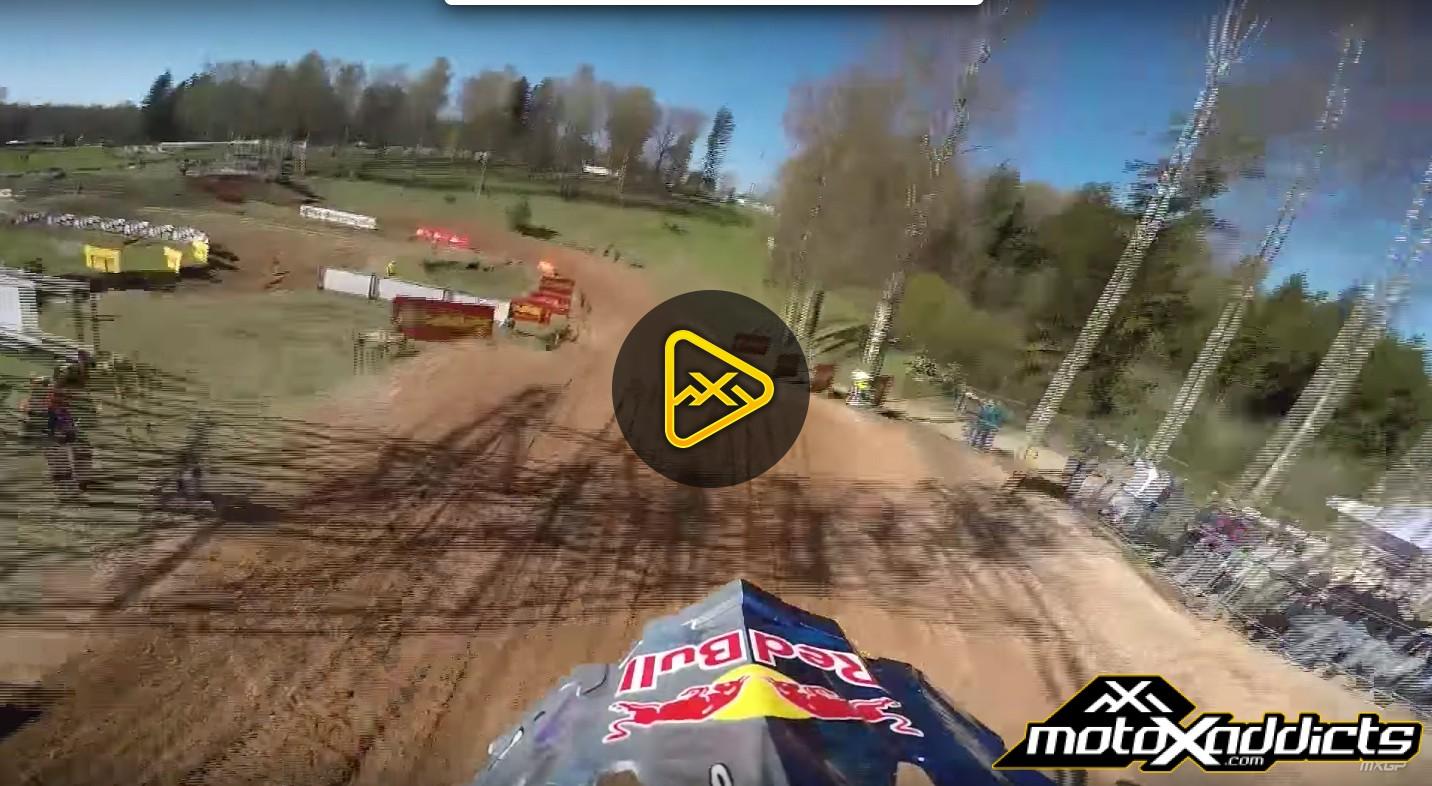 Helmet Cam: Jeffrey Herlings at 2016 MXGP of Latvia (Kegums)