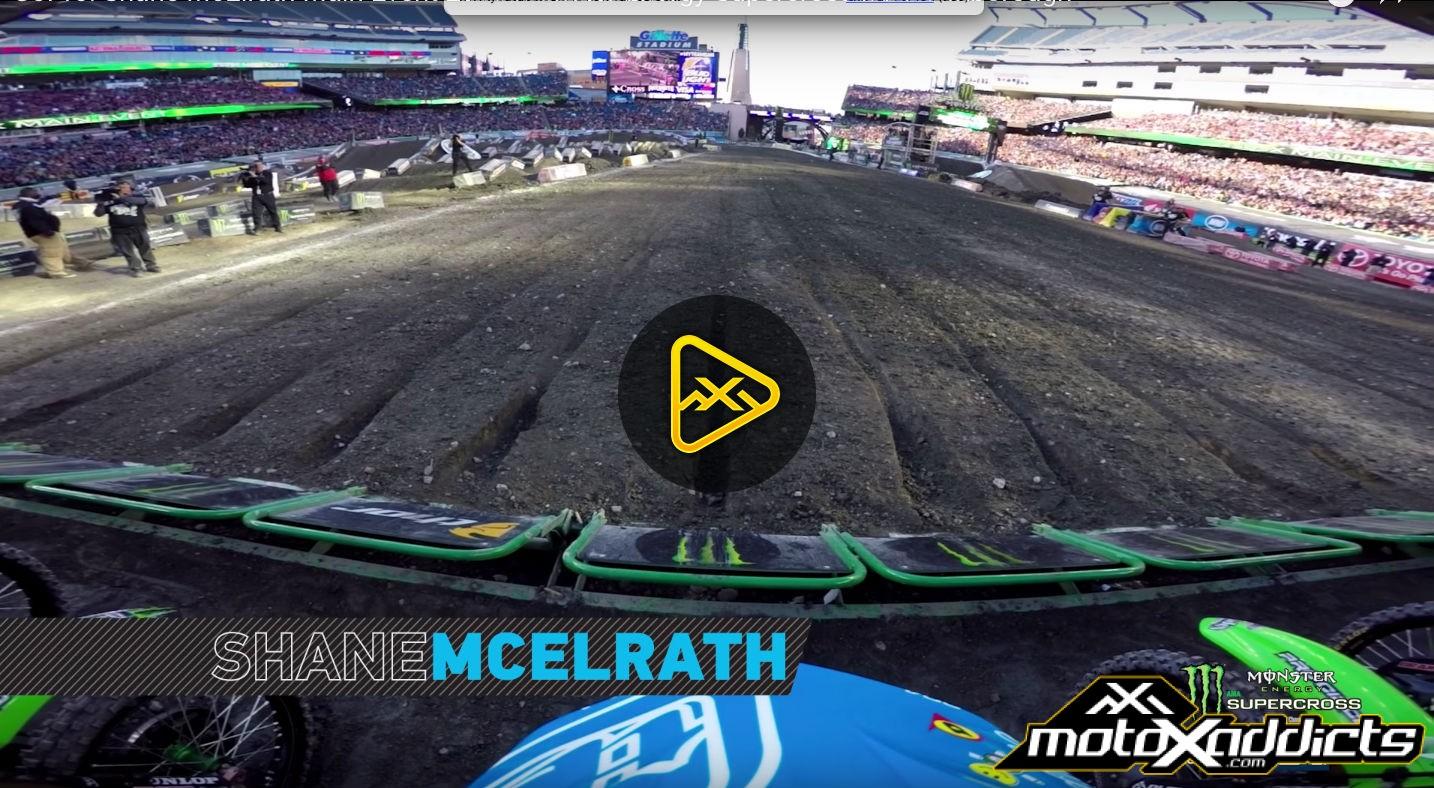 Helmet Cam: Shane McElrath at 2016 Foxborough Supercross