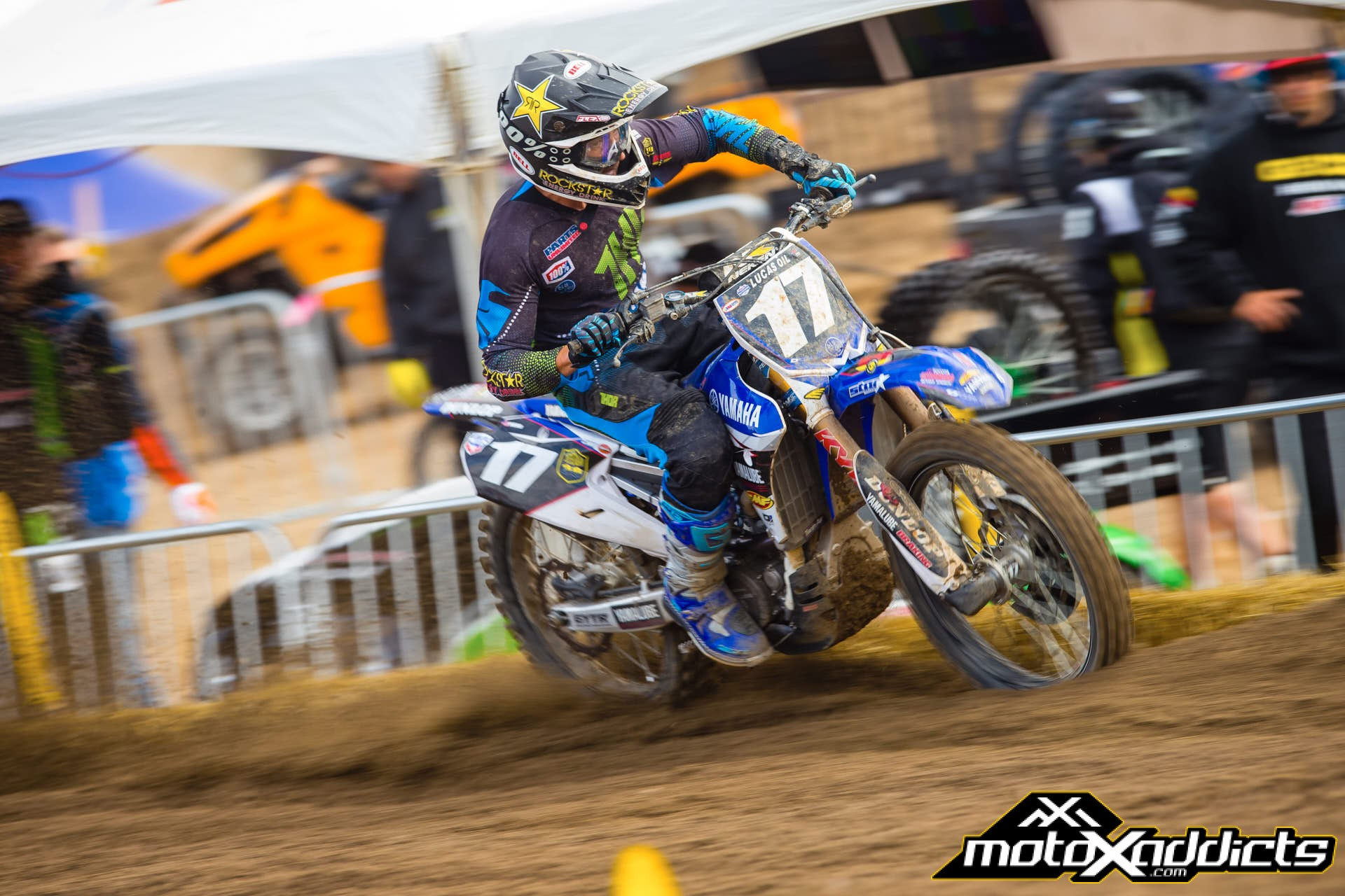 With a fracture in his wrist, Cooper Webb was a big question mark heading into Hangtown. Photo by: Hoppenworld