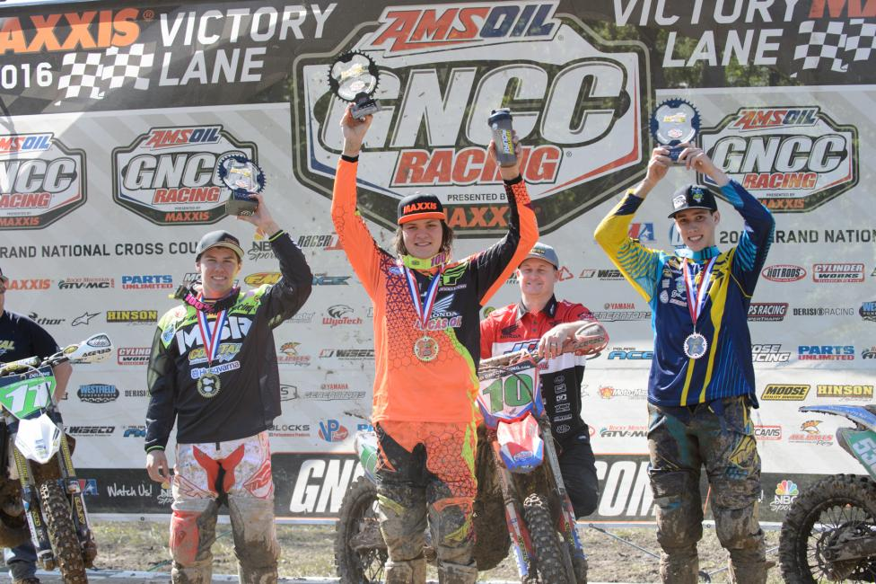 XC2 Pro Lites Podium: (2) Craig Delong, (1) Trevor Bollinger, (3) Benjamin Kelley.Photo: Ken Hill